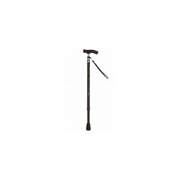 光華 スリムネック伸縮杖 ベーシック ブラックラメ B060-608D-BKP 【杖】ウェルファンカタログ ウェルファンコード:395011(直送品)