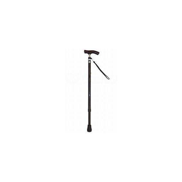 光華 スリムネック伸縮杖 ベーシックタイプ マットブラウン B060-608D-BRM(直送品)