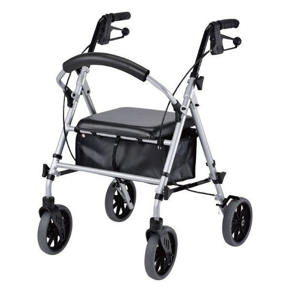 ウェルケアバンク 四輪歩行補助車 newあゆむくん Mサイズ シルバー M V4209(直送品)