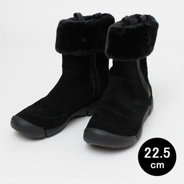 22.5cm 黒 クラークスボアブーツ