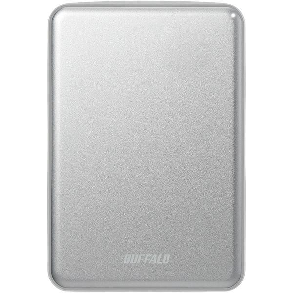 バッファロー USB3.1(Gen.1)対応 アルミ素材&薄型ポータブルHDD 1TB シルバー HD-PUS1.0U3-SVD 1台  (直送品)
