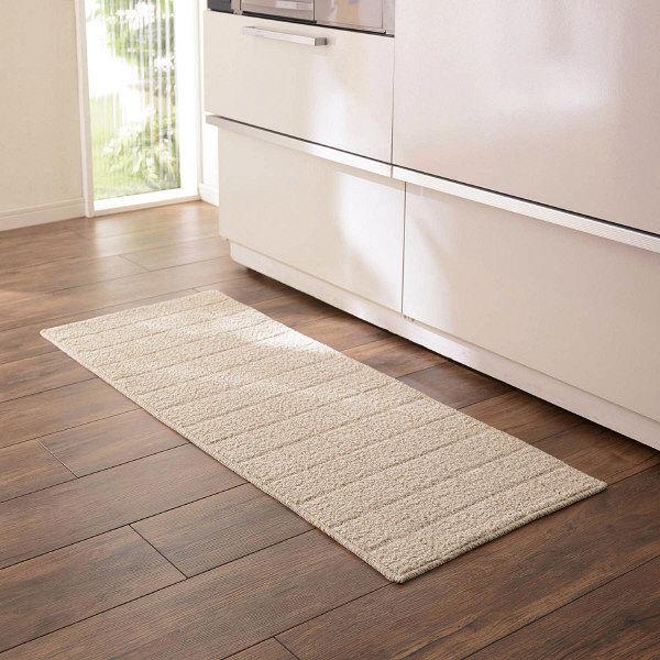 キッチンマットアイボリー45×240cm