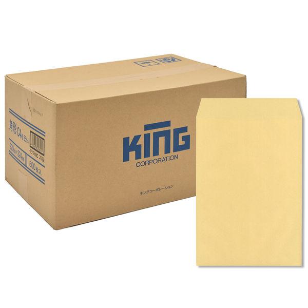 キングコーポレーション 角形C4号 85g OKゴールド スミ貼 012001 500枚×1箱 (直送品)