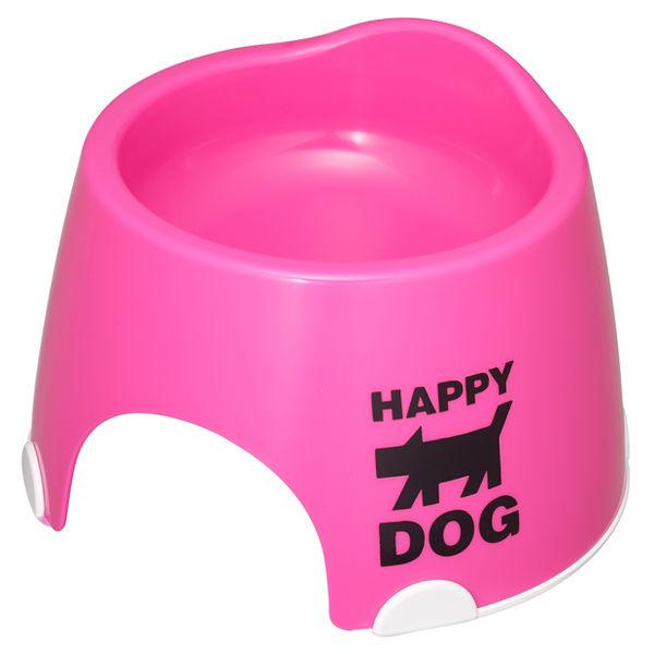 小型犬専用フードボールすべり止め付ピンク