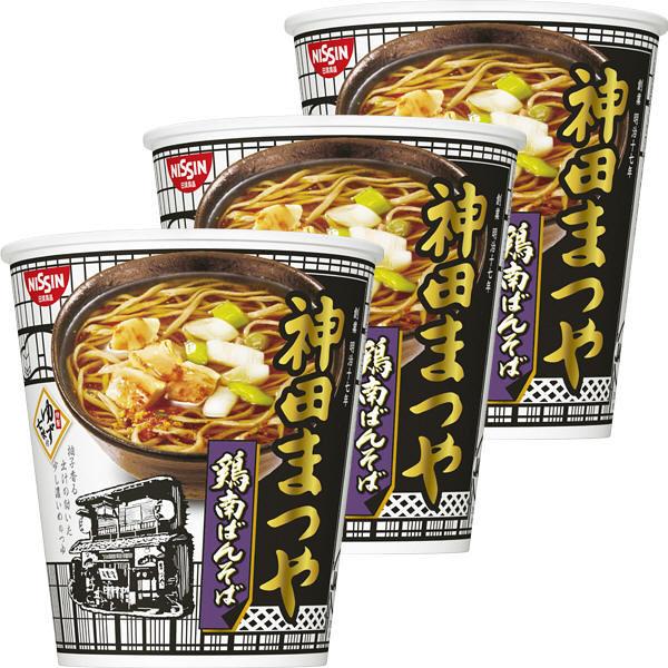 日清食品 神田まつや 鶏南ばんそば 3個