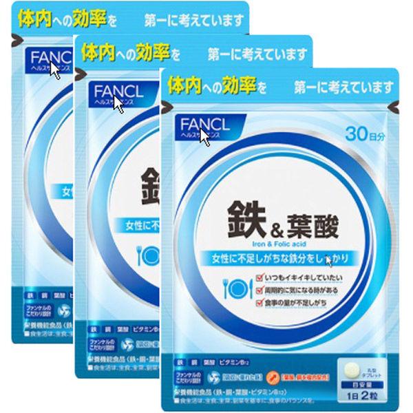 鉄&葉酸 約90日分(徳用3袋セット)