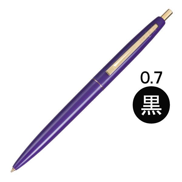 油性ボール クリックゴールド 紫 BIC