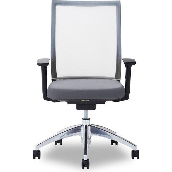 関家具 オフィスチェア Air01-ヘッド無/ハンガー無/背WH/肘可動/座GY グレイ 238345 1脚(直送品)