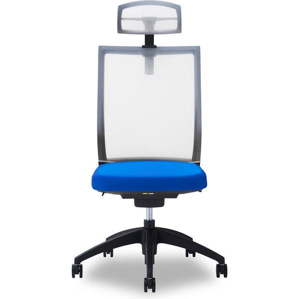 関家具 オフィスチェア Air01-ヘッドWH/ハンガー無/背WH/肘無/座BL ブルー 238361 1脚(直送品)