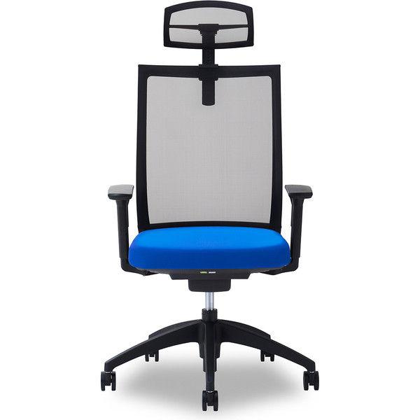 関家具 オフィスチェア Air01-ヘッドBK/ハンガー無/背BK/肘可動/座BL ブルー 238382 1脚(直送品)