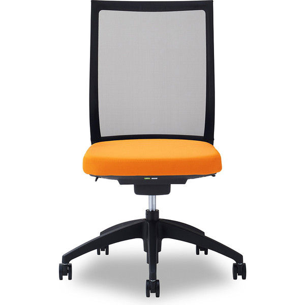 関家具 オフィスチェア Air01-ヘッド無/ハンガー無/背BK/肘無/座OR オレンジ 238500 1脚(直送品)