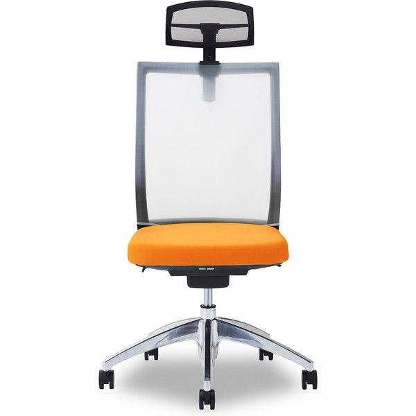 関家具 オフィスチェア Air01-ヘッドBK/ハンガー無/背WH/肘無/座OR オレンジ 238539 1脚(直送品)
