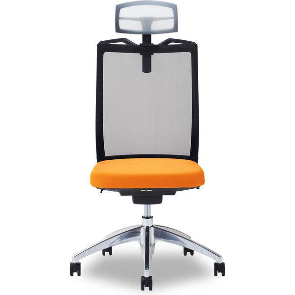 関家具 オフィスチェア Air01-ヘッドWH/ハンガー有/背BK/肘無/座OR オレンジ 238546 1脚(直送品)