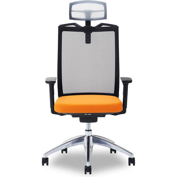 関家具 オフィスチェア Air01-ヘッドWH/ハンガー有/背BK/肘可動/座OR オレンジ 238570 1脚(直送品)