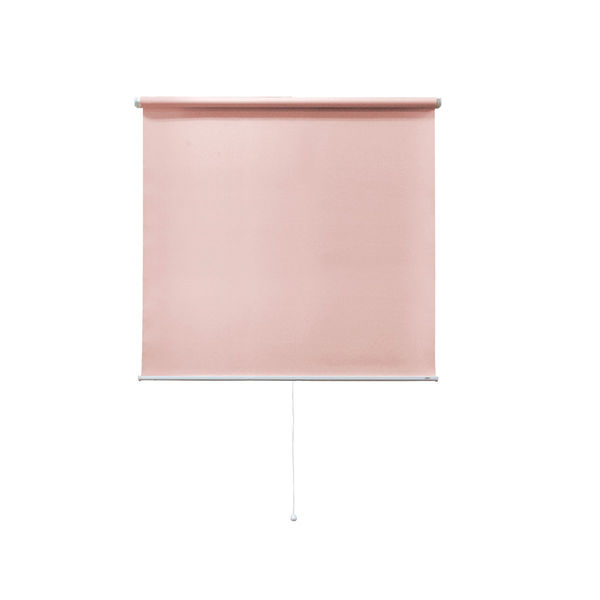 ナプコインテリア シングルロールスクリーン マグネットタイプ プル式 フルーレ 高さ900×幅980mm ピンク 1本 (直送品)
