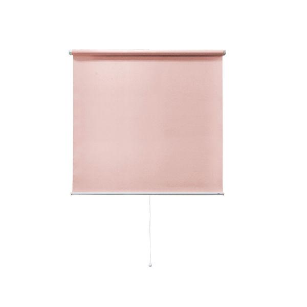 ナプコインテリア シングルロールスクリーン マグネットタイプ プル式 フルーレ 高さ1900×幅1100mm ピンク 1本 (直送品)