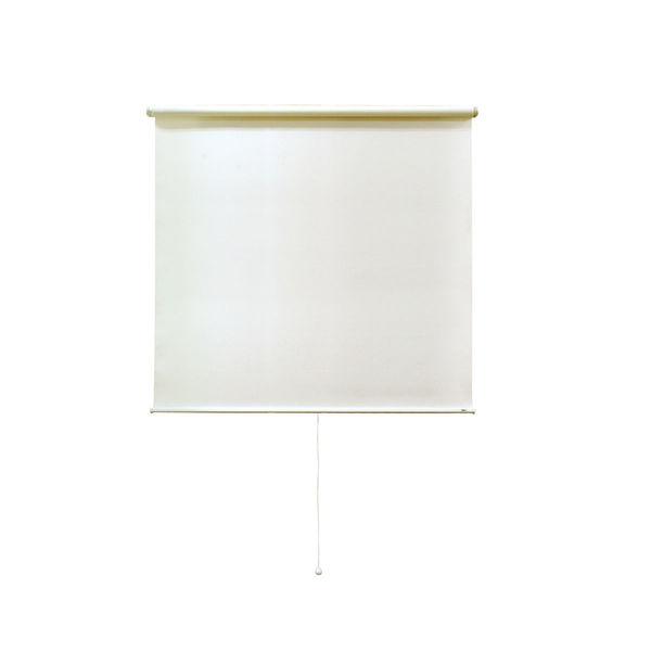 ナプコインテリア シングルロールスクリーン マグネットタイプ プル式 フルーレ 高さ900×幅430mm クリームホワイト 1本(直送品)