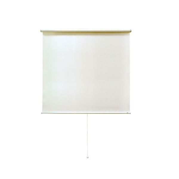 ナプコインテリア シングルロールスクリーン マグネットタイプ プル式 フルーレ 高さ1900×幅690mm クリームホワイト 1本(直送品)
