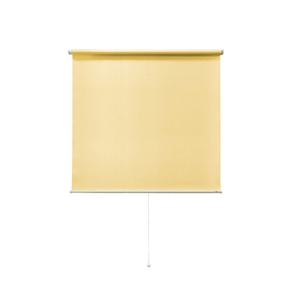 ナプコインテリア シングルロールスクリーン マグネットタイプ プル式 フルーレ 高さ900×幅470mm プリンイエロー 1本 (直送品)