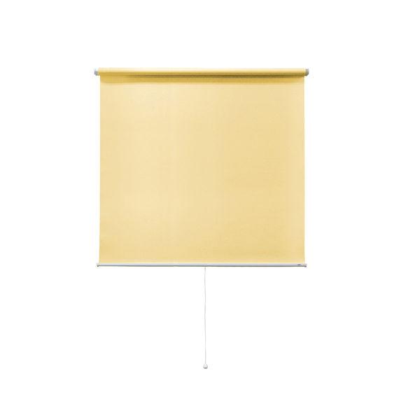 ナプコインテリア シングルロールスクリーン マグネットタイプ プル式 フルーレ 高さ900×幅710mm プリンイエロー 1本 (直送品)