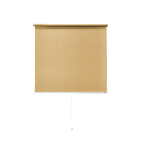 ナプコインテリア シングルロールスクリーン マグネットタイプ プル式 フルーレ 高さ1500×幅700mm ライトブラウン 1本 (直送品)