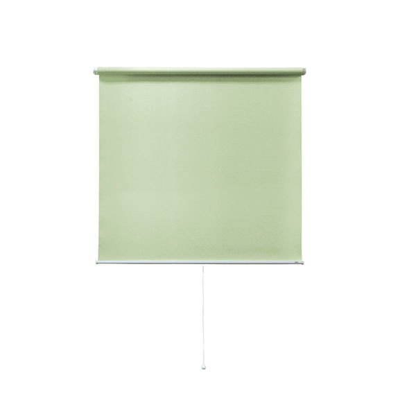 ナプコインテリア シングルロールスクリーンマグネットタイププル式 フルーレ 高さ1900×幅730mm エメラルドグリーン 1本(直送品)