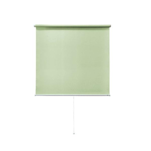ナプコインテリア シングルロールスクリーンマグネットタイププル式 フルーレ 高さ1900×幅970mm エメラルドグリーン 1本(直送品)