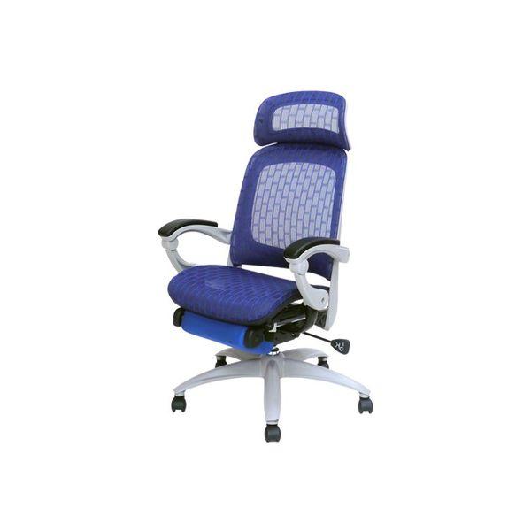 ネットフォース オフィスチェア スリーピングオフィスチェア ブルー SPO-1-AW 1脚(直送品)