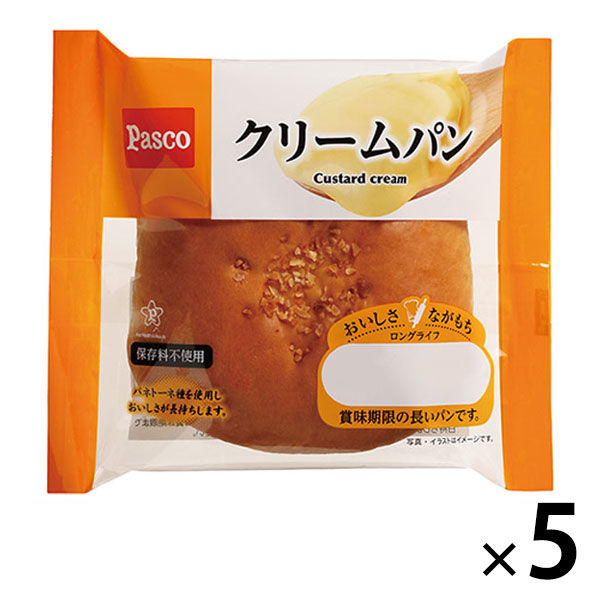 Pasco クリームパン 5個