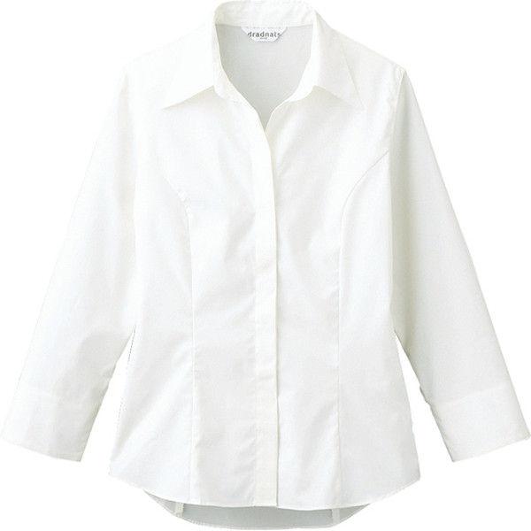 シャツ(七分袖)女性用 ホワイト 15号