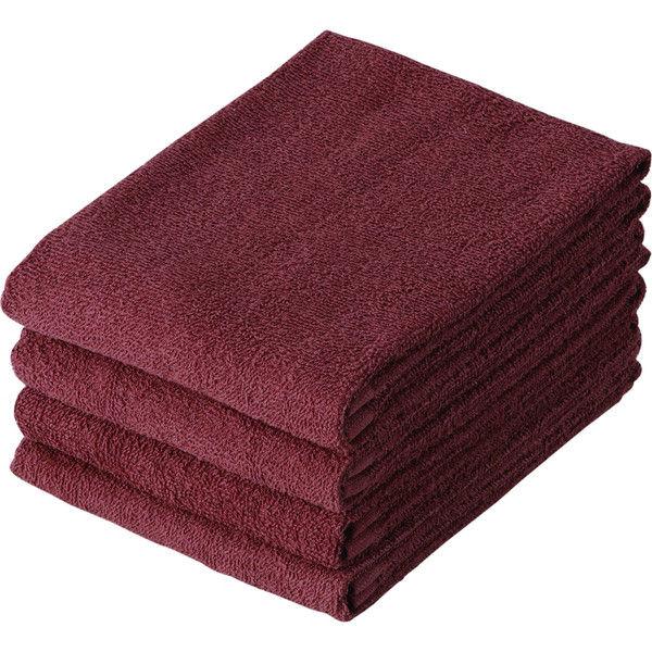 テンダイ 美容室のスレン染めタオル ブラウン C218627 3パック(計12枚)(直送品)