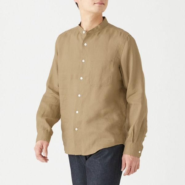 無印 フレンチリネンシャツ 紳士 XL