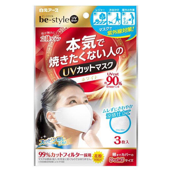 ビースタイル UVカットマスク ホワイト