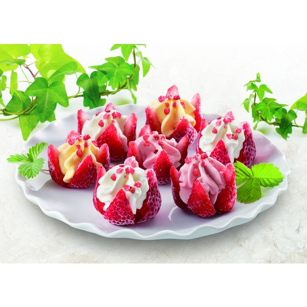 博多あまおう花いちごのバラエティアイス