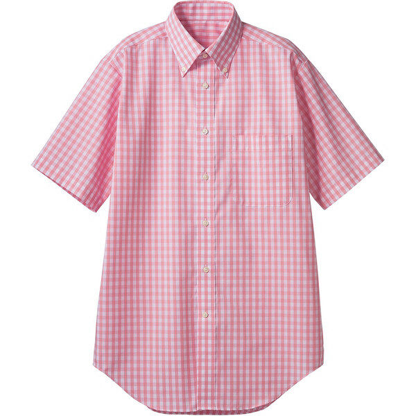 住商モンブラン MONTBLANC(モンブラン) シャツ 兼用 半袖 ピンクチェック SS CG2504-5(直送品)