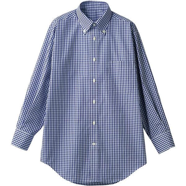 住商モンブラン MONTBLANC(モンブラン) シャツ 兼用 長袖 ネイビーチェック SS CM2503-9(直送品)