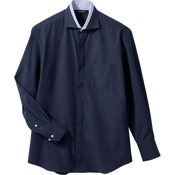 住商モンブラン MONTBLANC(モンブラン) シャツ 兼用 長袖 ネイビー/ラベンダー M BF2601-9(直送品)