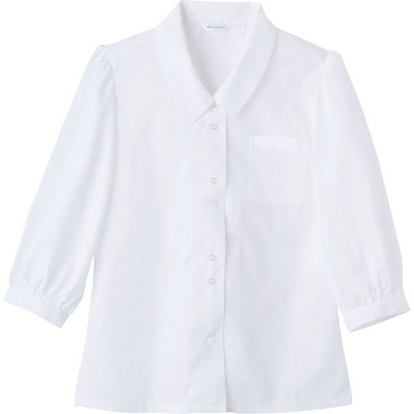 住商モンブラン MONTBLANC(モンブラン) ブラウス レディス 7分袖 白 9号 BS2101-2(直送品)
