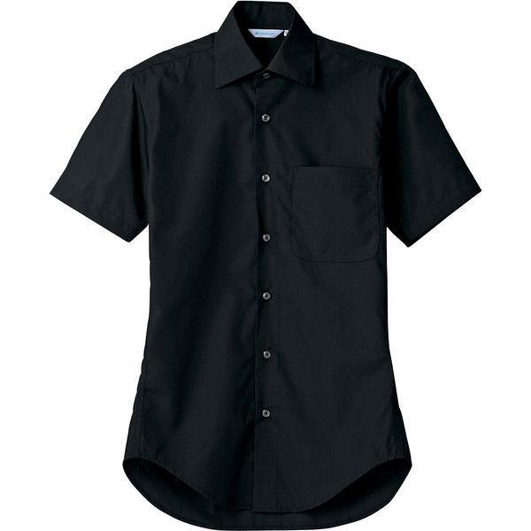 住商モンブラン MONTBLANC(モンブラン) シャツ 兼用 半袖 黒 LL BS2542-1(直送品)