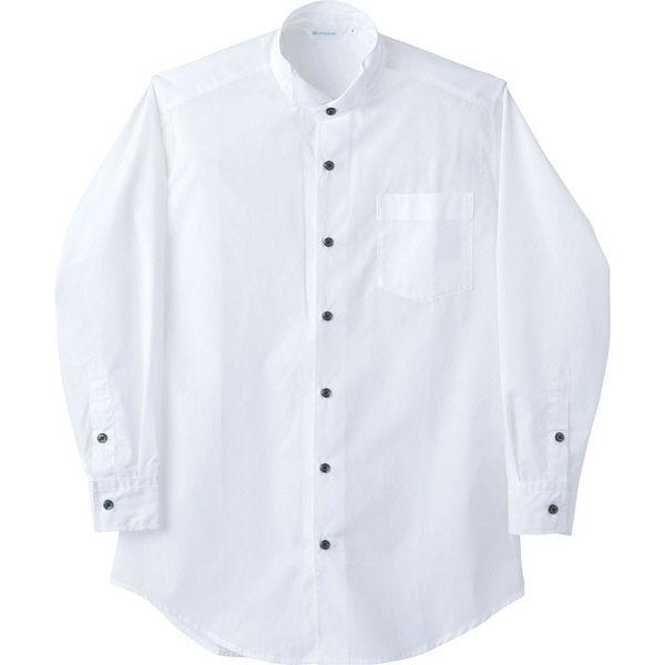 住商モンブラン MONTBLANC(モンブラン) ウイングカラーシャツ 兼用 長袖 白 M BS2561-2(直送品)