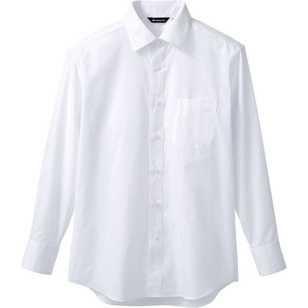 住商モンブラン MONTBLANC(モンブラン) シャツ 兼用 長袖 白 L BS2581-2(直送品)