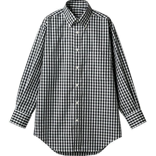 住商モンブラン MONTBLANC(モンブラン) シャツ 兼用 長袖 黒チェック S CG2503-1(直送品)