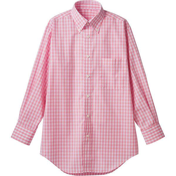 住商モンブラン MONTBLANC(モンブラン) シャツ 兼用 長袖 ピンクチェック M CG2503-5(直送品)