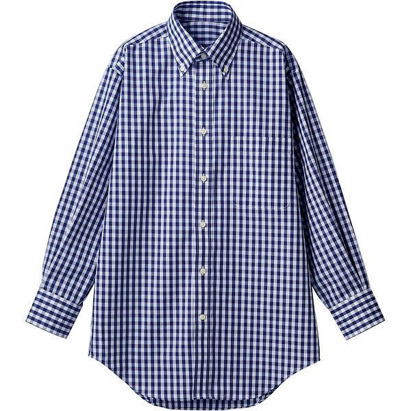 住商モンブラン MONTBLANC(モンブラン) シャツ 兼用 長袖 ネイビーチェック L CG2503-9(直送品)