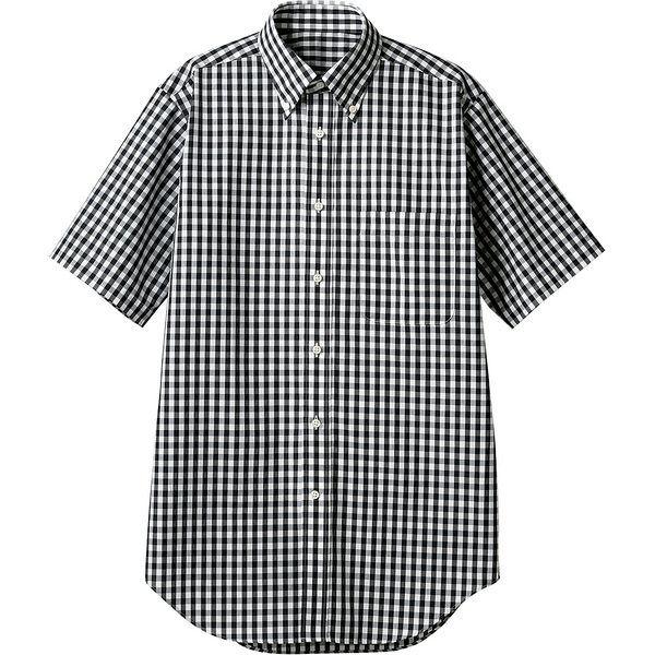 住商モンブラン MONTBLANC(モンブラン) シャツ 兼用 半袖 黒チェック LL CG2504-1(直送品)