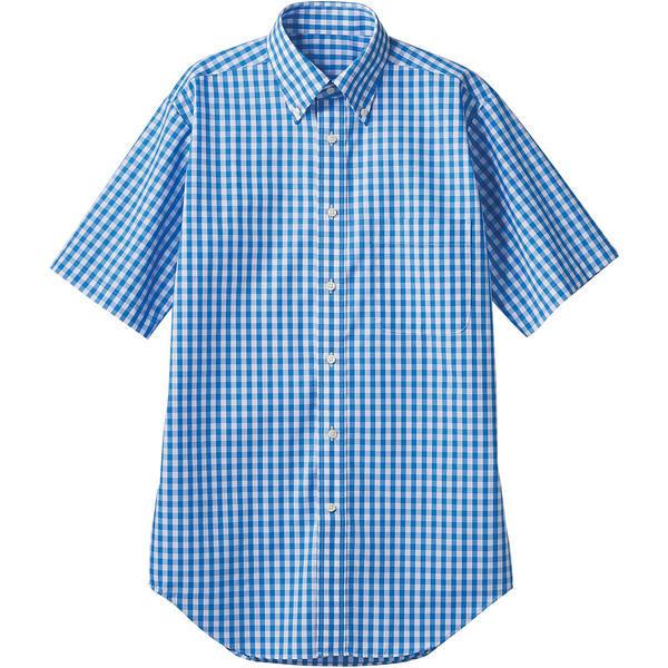 住商モンブラン MONTBLANC(モンブラン) シャツ 兼用 半袖 ブルーチェック L CG2504-4(直送品)