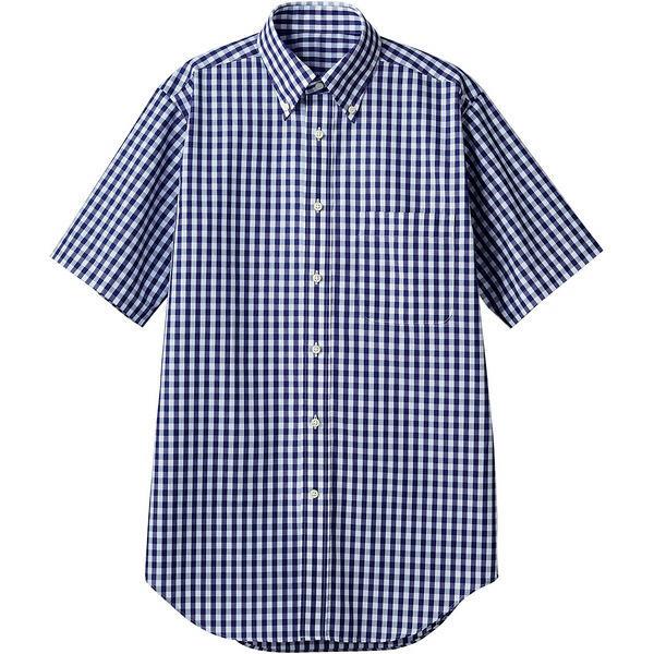 住商モンブラン MONTBLANC(モンブラン) シャツ 兼用 半袖 ネイビーチェック 4L CG2504-9(直送品)