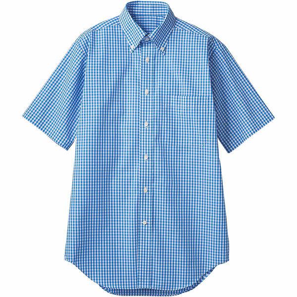 住商モンブラン MONTBLANC(モンブラン) シャツ 兼用 半袖 ブルーチェック LL CM2504-4(直送品)