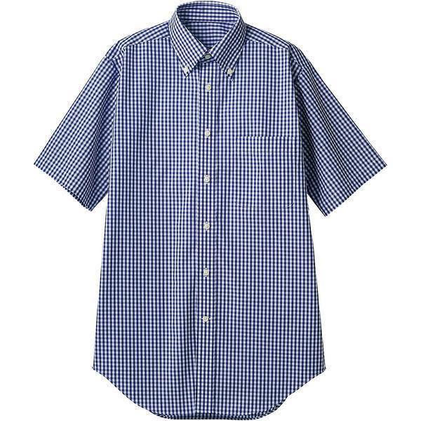 住商モンブラン MONTBLANC(モンブラン) シャツ 兼用 半袖 ネイビーチェック LL CM2504-9(直送品)