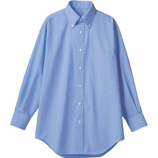 住商モンブラン MONTBLANC(モンブラン) シャツ 兼用 長袖 ブルー 3L CX2503-4(直送品)